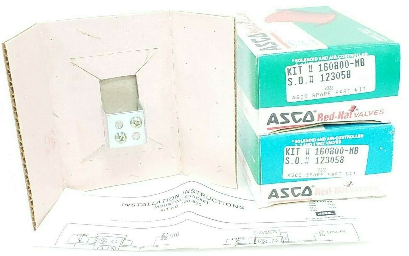LOT OF 2 NIB ASCO 160800-MB SPARE PART KITS 160800MB