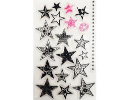 Stylized Stars Clear Stamp Set