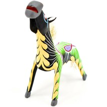 "Handmade Alebrijes Oaxacan Wood Carved Painted Folk Art Horse 5"" Figurine image 2"