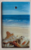 Ocean beach Seashell Light Switch Power Outlet wall Cover Plate Home Decor image 2