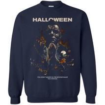 Halloween Michael G180 Navy Sweatshirt 8 oz Unisex Made in USA - $32.66+