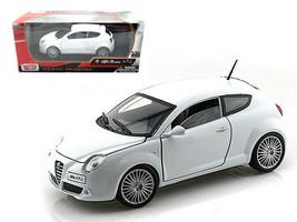 Alfa Romeo Mito White 1/24 Diecast Car Model by Motormax - $31.71
