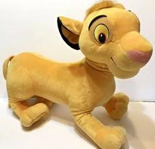 "The Lion King Simba Plush 21"" JUMBO Disney Store Stuffed Animal  - $29.43"
