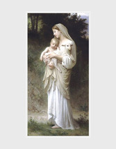 William Adolphe Bouguereau,  L'innocence.  Featuring a Shepherdess with ... - $23.99