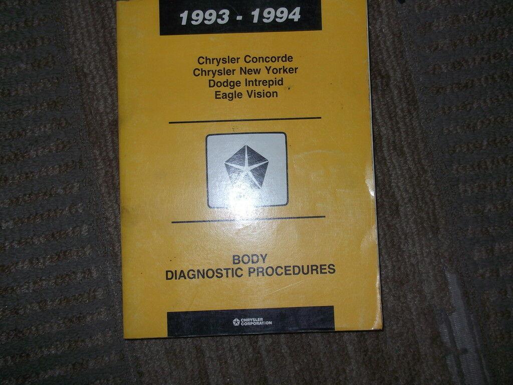 1993 Dodge Intrepid Körper Diagnose Service Shop Manuell