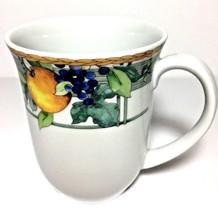 "New Wedgwood Home ""Fruit"" Water Colour Fine Porcelain Mug/12 oz  - $11.83"