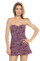 NWT CHRISTINA 12 swimdress swimsuit twist bandeau ruffled HIP MINIMIZER ... - $66.92