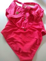 Nanette Lepore Swim Pink One Piece Swim Wear Size 12 image 2