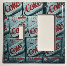 Diet Coke Coca cola Light Switch Outlet duplex Wall Cover Plate Home Decor image 5