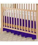 Purple Cotton Ruffled Crib Skirt / Mini Crib Skirt - $25.99+