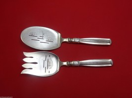 Lotus by W&S Sorensen Sterling Silver Fish Serving Set 2pc AS HH with Lotus - $768.55