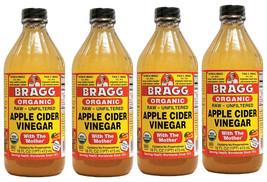 Bragg Organic Apple Cider Vinegar 4 x16 Oz 64 Total Oz.Glass Bottles - $129.88