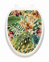 Toilet Tattoo Tropical Forest Bathroom Lid Vinyl Removable Decoration 1137 - $14.06