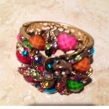 multicolored cuff bracelet easy to get on and off front closure - $24.99