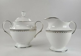 Lenox Pearl Platinum Sugar Bowl and Creamer Set Classics Collection EUC - $123.75