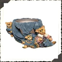 "Boyds Folkstone Votive ""Darby & Jasper..Knittin' Kittens"" #27802* NEW* 1998 - $19.99"