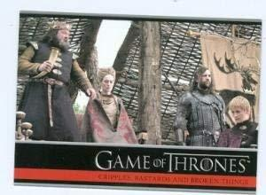 Game of Thrones trading card #12 2012 King Robert Baratheon Queen Cersei Lannist