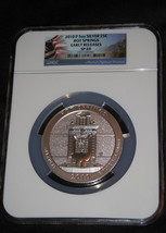 2010 P Silver 5oz. Hot Springs National Parks America The Beautiful NGC SP69 ER