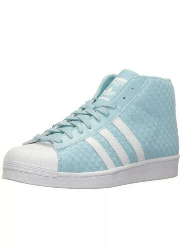 Adidas Pro Model Woven Shoes BY4169 Icey Blue/Running White- Size 11  Shell toe image 4