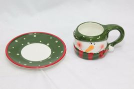 Snowman Xmas 4 Cups and 4 Saucers image 5