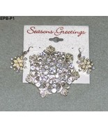 Christmas Holiday Rhinestone Brooch and Earrings Set  NWT - $15.99