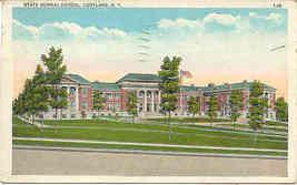 State Normal School Cortland New York 1934 Post Card  - $6.00
