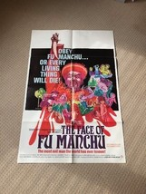 The Face of Fu Manchu Original UK Quad Film Movie Poster. Christopher Lee - $507.41
