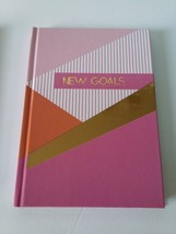 """Jot Hardback Journal """"NEW GOALS"""" Pink Gold Diary Notebook Lined 5x7 in 6... - $11.88"""