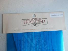 "Longaberger Homestead Stencils. ""Floral Baskets"" Set 1 New - $14.03"
