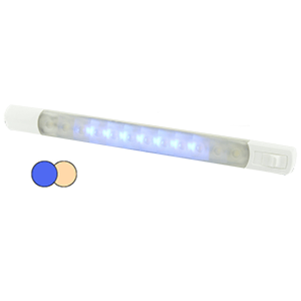 Primary image for Hella Marine Surface Strip Light w/Switch - Warm White/Blue LEDs - 12V