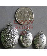 3 New different Oval Necklace Locket Pendant Charms NEW - $9.99