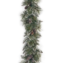 National Tree 6 Foot by 10 Inch Glittery Bristle Pine Garland with Cones GB1-50-