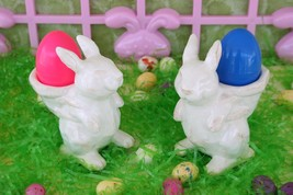 POTTERY BARN EASTER BUNNY EGG CUPS (SET OF 2) – NIB – AN EGGS-TRAORDINAR... - $39.95