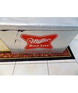 Vtg Miller High Life Champagne Bottle Beer Tailgate Storage Cooler Chest... - $65.34