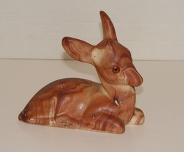 Vintage Colorado Made  Brown Doe Swirl Clay Figurie  - $8.99