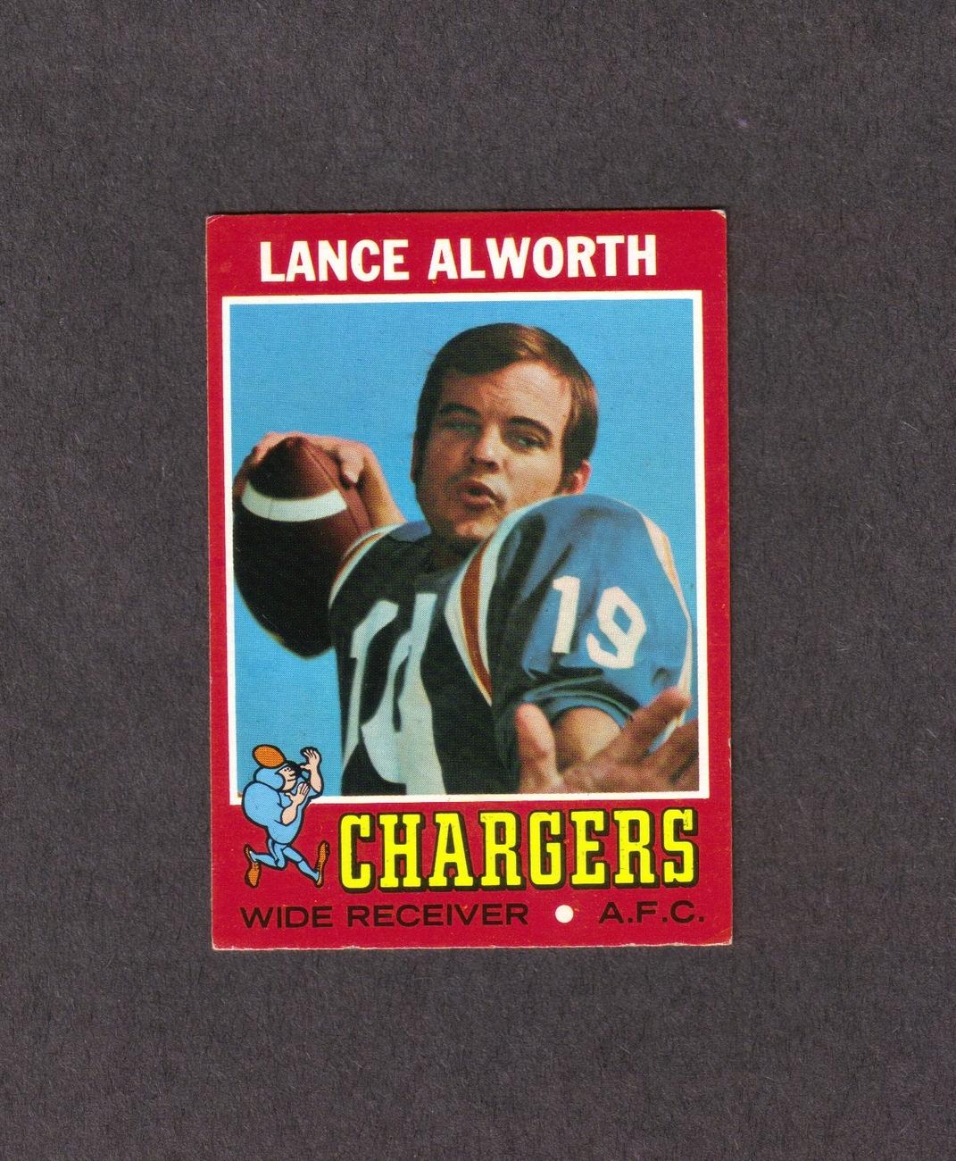 1971 Topps # 10 Lance Alworth San Diego Chargers Bonanza