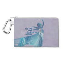Elsa Frozen The Cold Never Bothered Disney Princess Canvas Zip Pouch - $15.99+
