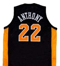 Carmelo Anthony #22 OWLS High School Basketball Jersey New Sewn Black Any Size image 2