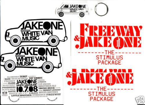 JAKE ONE Freeway 4 PROMO STICKERS+KEY CHAIN for cd MINT Bonanza