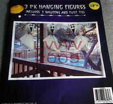 3 Ghost Halloween Hanging in/outdoor Figures New - €3,47 EUR