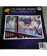 3 Ghost Halloween Hanging in/outdoor Figures New - $3.99