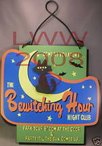 The Bewitching Hour Night Club Halloween Sign NEW Metal - $8.99