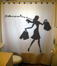 Shopping Queen SHOWER CURTAIN Fashion Girl woman chic - $100.00