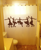 SHOWER CURTAIN Dancing Women Tribal Woman Dance Ballet - $75.00