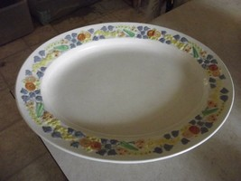 George Jones  & Sons Golden Dawn 15 5/8 oval platter 1 available (some c... - $8.86