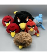 Angry Birds Plush Lot Of 6 Commonwealth NO SOUND Bomb Red Rio Star Wars - $34.64