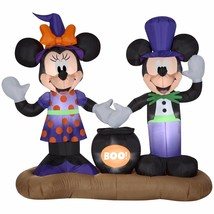 Airblown Inflatable Mickey and Minnie Cauldron Scene Gemmy Halloween Yar... - $115.00