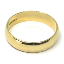 SOLID 18K YELLOW BAND GOLD RING, BIG 5.5 THICKNESS, FLAT, SMOOTH, MADE IN ITALY image 2