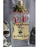 Handmade Transylvania Wine Potion Bottle Halloween - $7.99
