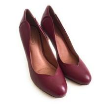 Corso Como Women's Size 9 Burgundy Leather Pumps Round Closed Toe - $34.65
